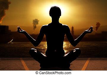 yoga, e, industria