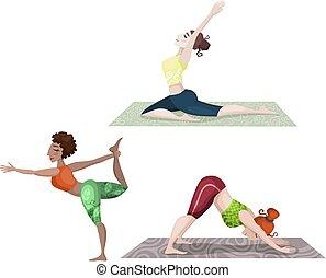 yoga, ensemble