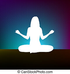 yoga, estilo, plantilla, design., eps, 8