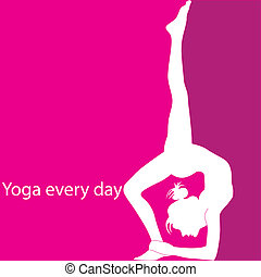 Yoga every day - Girl located in asana - a yoga pose on...