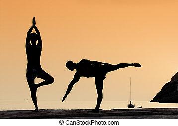 yoga, exercice