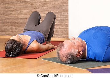 Yoga Exercise - Setu Bandha Sarvangasana