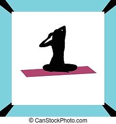 yoga exercise silhouette