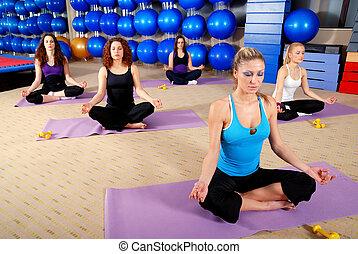 yoga lotus meditation logo