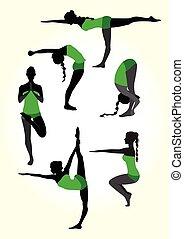 Yoga female silhouette