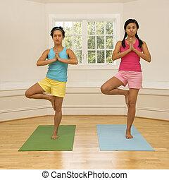 Yoga fitness women