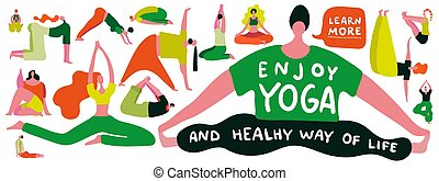Yoga Flat Illustration