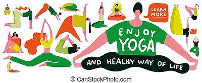 Yoga Flat Illustration