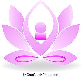 Yoga flower logo design