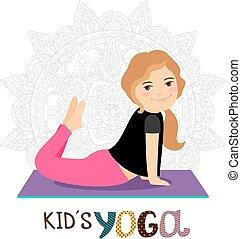 Yoga for kids illustration