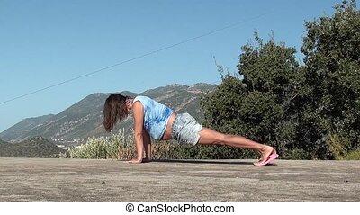 Yoga for pregnant cobra asana and triangle