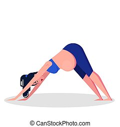 Yoga for pregnant woman concept. Fitness and sport