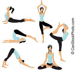 yoga, ge sig sken