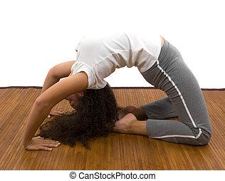 Yoga - Girl doing yoga
