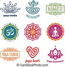 Yoga graphics - Set of yoga and meditation graphics and ...