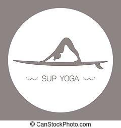 yoga, grijze , sup