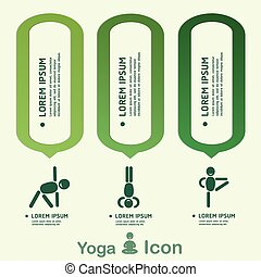Yoga Healthy lifestyle infographic, vector.