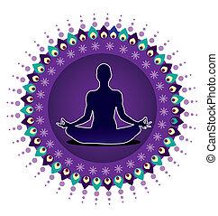yoga, icône