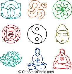 yoga, icônes