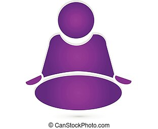 Yoga icon logo vector design