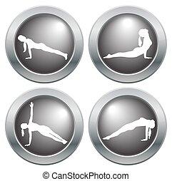 Yoga Icon Set 4