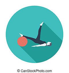 Yoga icon.