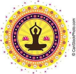 yoga, icona