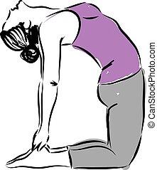 yoga illustration a