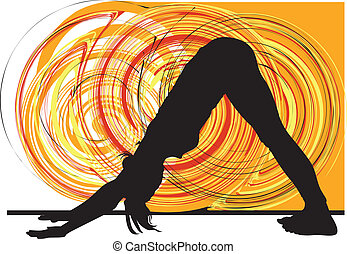 yoga, illustration