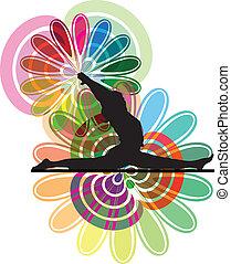 Yoga Illustration made in adobe illustrator