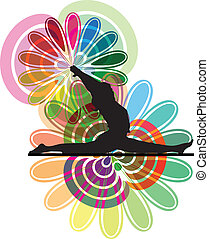 yoga, illustrazione