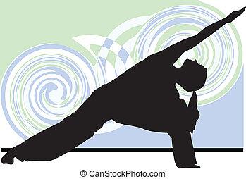 yoga, illustrazione
