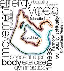 yoga, ilustración