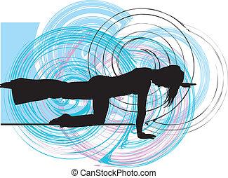 yoga, ilustracja