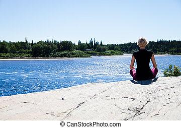 Yoga in nature - lotus