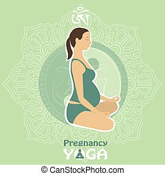 yoga., infographics, donna, incinta