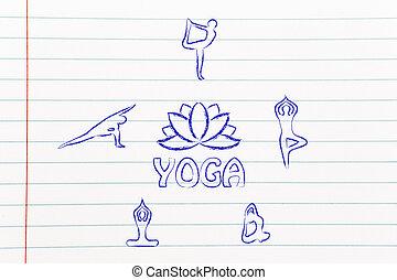 yoga inspired illustration, mind body and soul