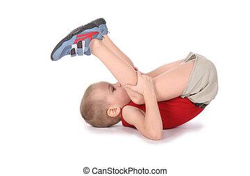 yoga, jongen