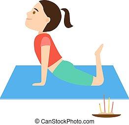 Kids meditation illustration  Meditation for kids, children