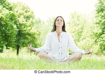 yoga, kobieta