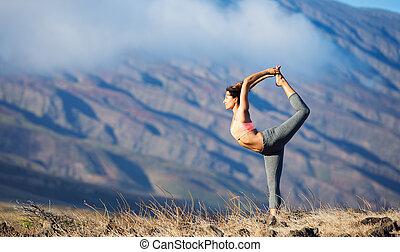 yoga, kvinde