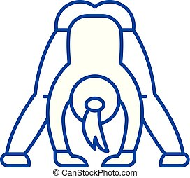 Yoga line icon concept. Yoga flat  vector symbol, sign, outline illustration.