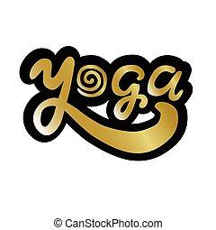 yoga  logo lettering