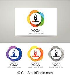 Yoga Logo Set Illustration Of Logos