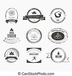 Yoga Logotypes Collection - Set of logos for yoga studio or...