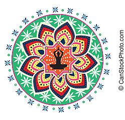 yoga, lotus posture