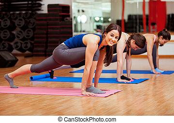yoga, mój, klasa, miłość