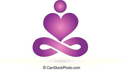 Yoga man logo
