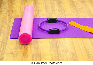 Yoga mat and cushion