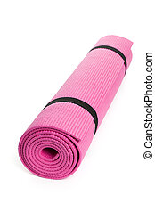 Yoga Mat - Pink Yoga Mat with White Background
